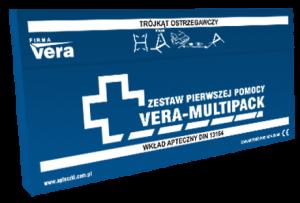 Samochodowy zestaw pierwszej pomocy VERA MULTIPACK wpudełku DIN 13164 PLUS