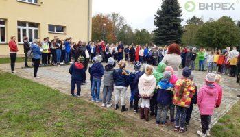 Blog - Próbne ewakuacje w placówkach oświatowych w gminie Dąbie [galeria]