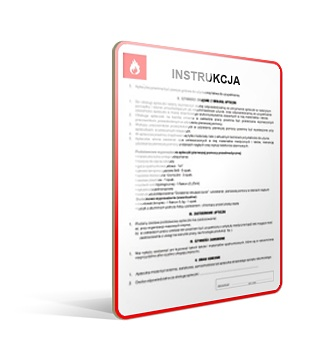 Instrukcje przeciwpożarowe - obsługa firm