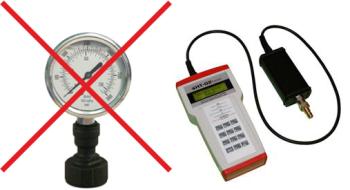 Manometry dobadania wydajności hydrantów wewnętrznych