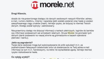 Blog - Wyciek danych 2.5 miliona klientów Morele.net