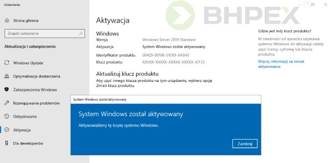 Instalacja Windows Server 2019