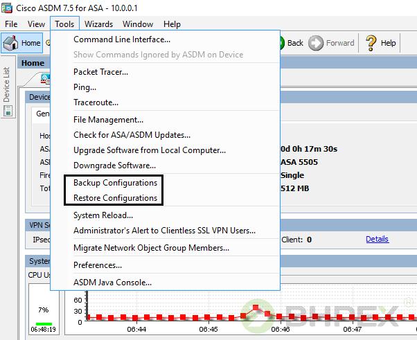 backup konfiguracji
