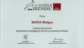 Blog - BHPEX Sp.j. - zwycięzcą rankingu e-gazele biznesu w lubuskim