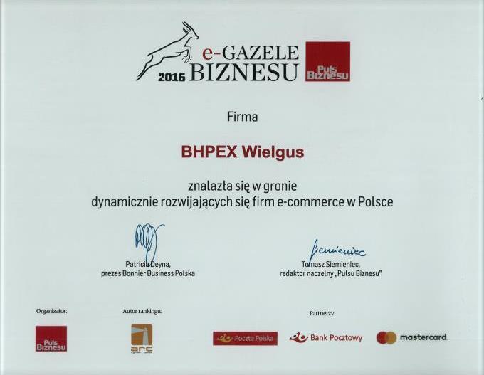 zwycięzca rankingu e-Gazele biznesu