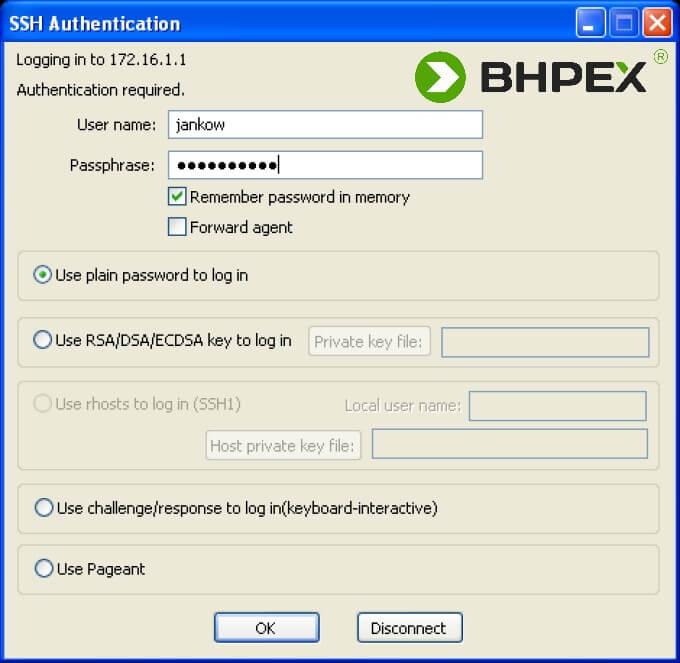 CISCO dostęp zdalny - ssh authentication