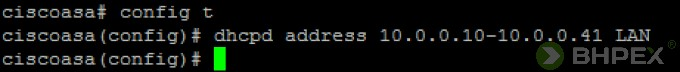 cisco ASA - definicja puli adresów