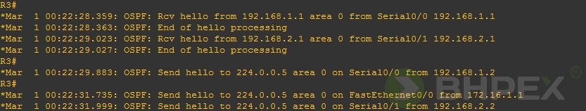 debugowanie procesu OSPF
