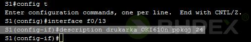 Definicja komentarzy - dodanie opisu dointerfejsu