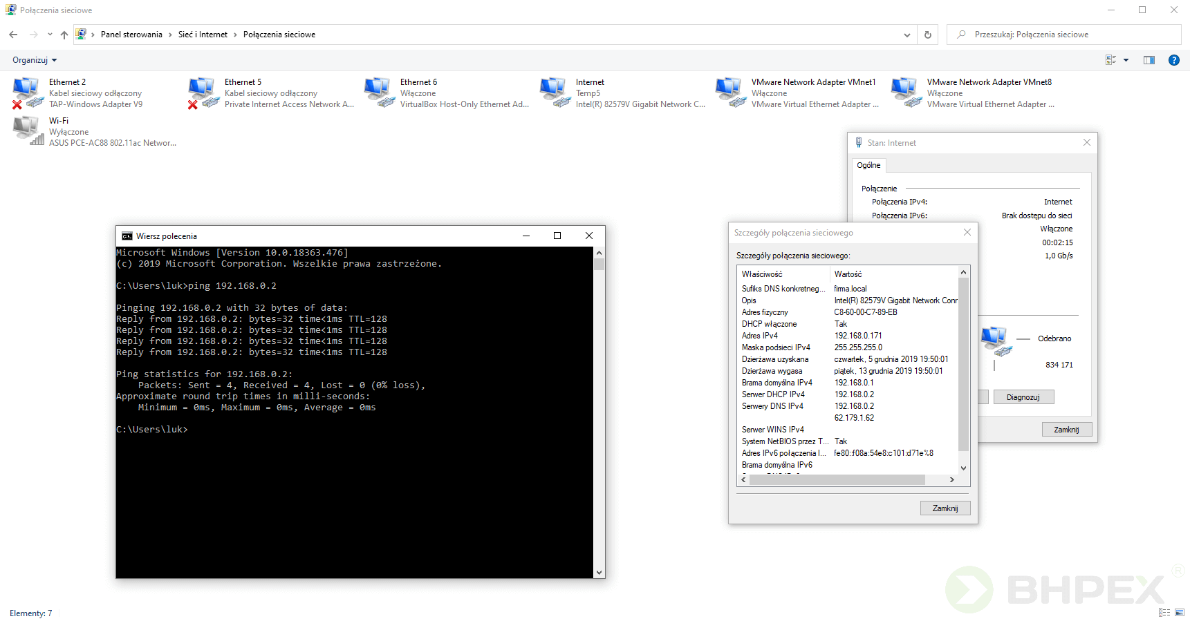 działanie serwera