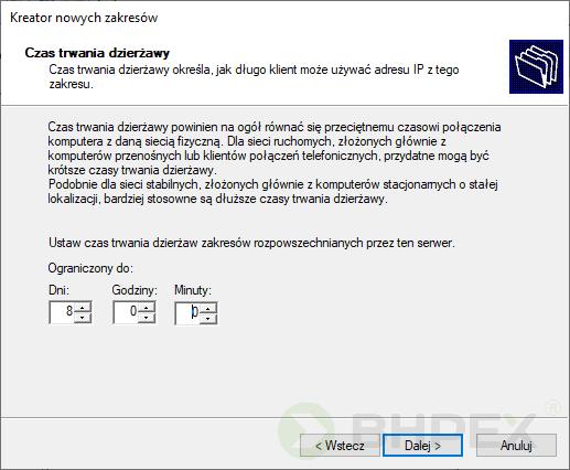 dzierżawa adresu IP
