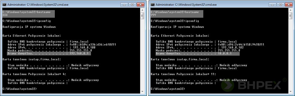 konfiguracja ip systemu windows