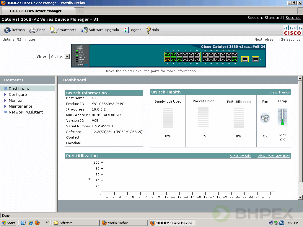 konfiguracja przełącznika zwykorzystaniem protokołu HTTP