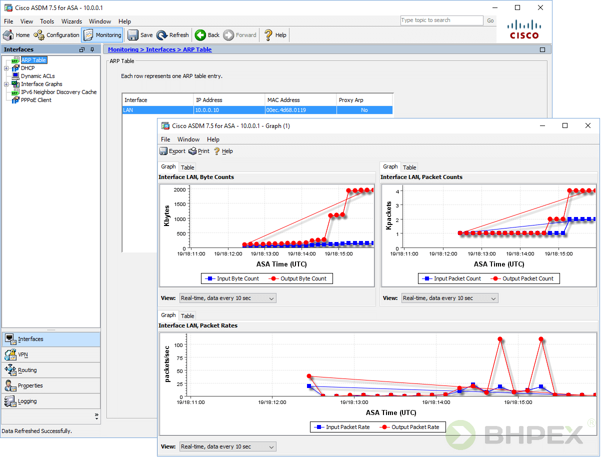Monitoring - status interfejsów