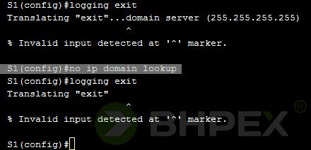no ip domain lookup
