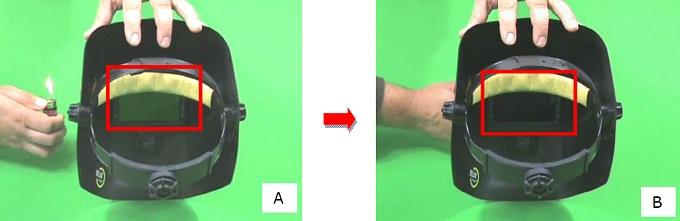 filtr spawalniczy - sprawdzenie zadziałania