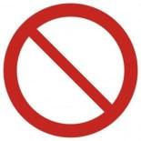 Znaki BHP - znaki zakazu
