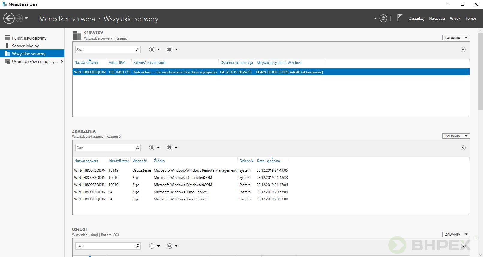 pulpit wszystkie serwery - konfiguracja