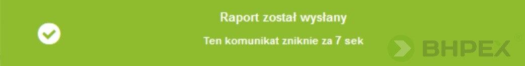 Raport został wysłany - raport KOBiZE