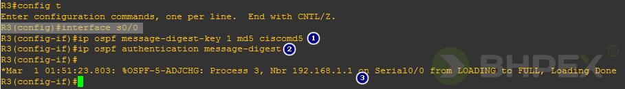 router R3 odbudowuje relację sąsiedzką zrouterem R2