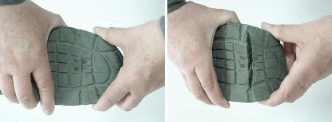 obuwie robocze - pęknięcia iprzecięcia