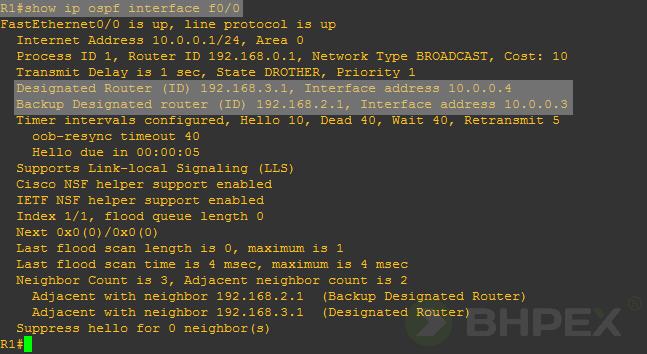 sprawdzenie stanu interfejsu f00