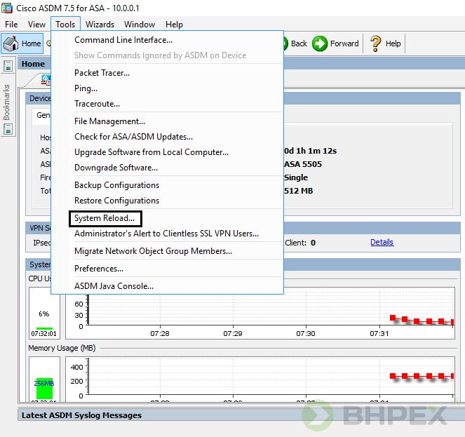 System Reload - ponowne uruchomienie urządzenia