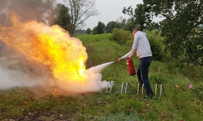 Praktyczne szkolenie zużyciem gaśnic