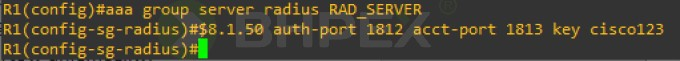 aaa group server radius RAD_SERVER