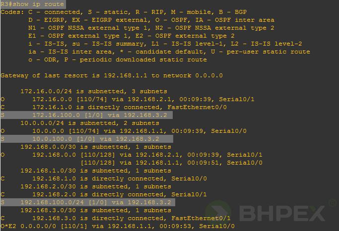 trasy statyczne routera r3