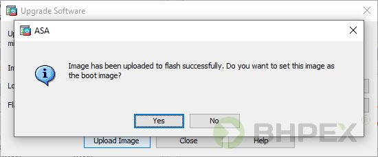 upgrade software ASA