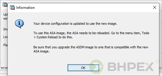 upgrade software information