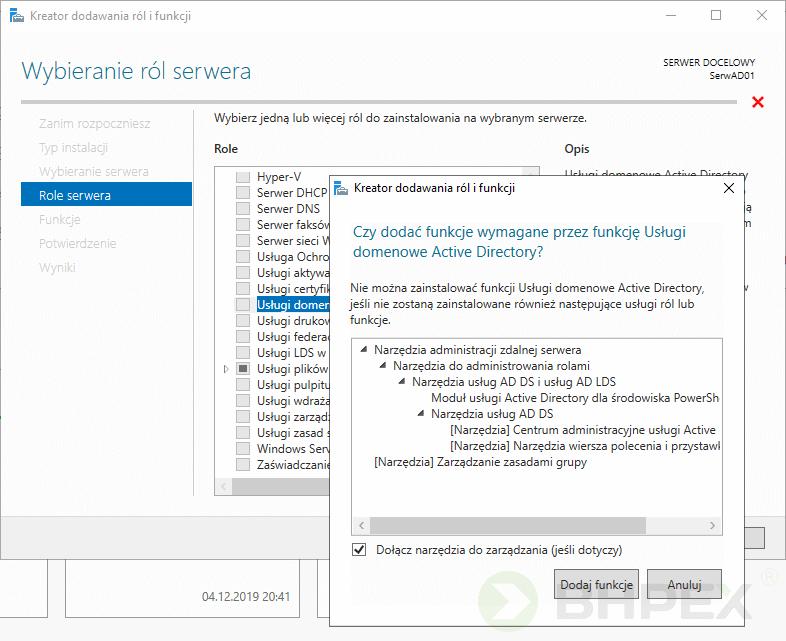 wybór serwera docelowego