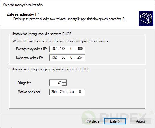 zakres adresów IP