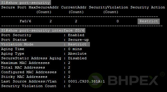 zmiana konfiguracji - show