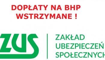 Blog - Zakład ubezpieczeń społecznych wstrzymuje program dopłat do BHP